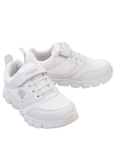 Sport Erkek Çocuk Spor Ayakkabı 31-35 Numara Beyaz Erkek Çocuk Spor Ayakkabı 31-35 Numara Beyaz Beyaz